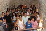Un grupo visitando el Toledo Subterráneo