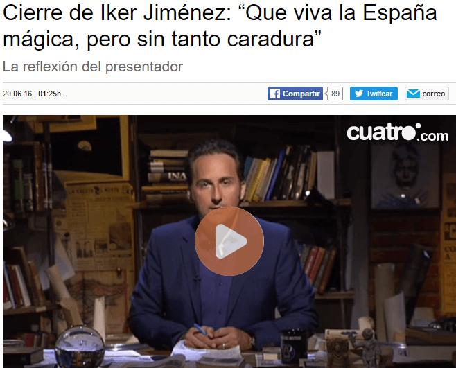 Www.cuatro.com Cuarto Milenio | Iker Jimenez Que Viva El Toledo Magico Pero Sin Tanto Caradura