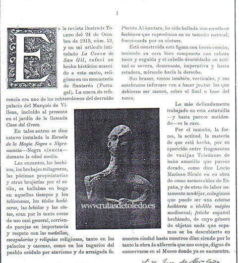 La estatua hechicera de Toledo