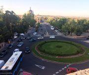 Vistas desde la Puerta de Bisagra de Toledocon unas increíbles vistas de esta zona de la ciudad.