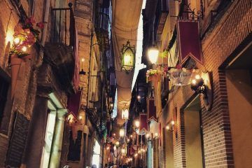 Calle durante el Corpus Christi de Toledo