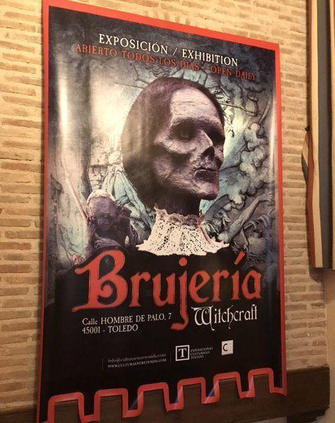 Cartel exposición Brujería Toledo