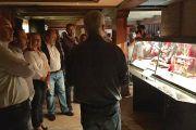 Luis Rodríguez Bausá en la exposición de Brujería