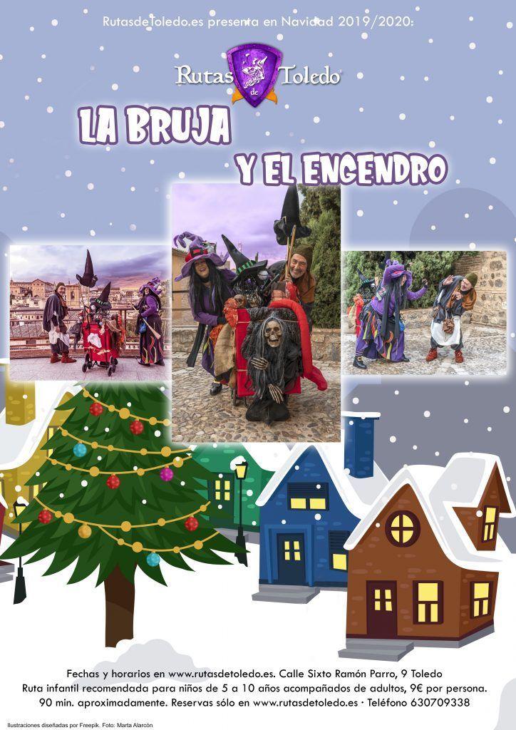"Ruta infantil ""La Bruja y el Engendro"" especial Navidad. Toledo"