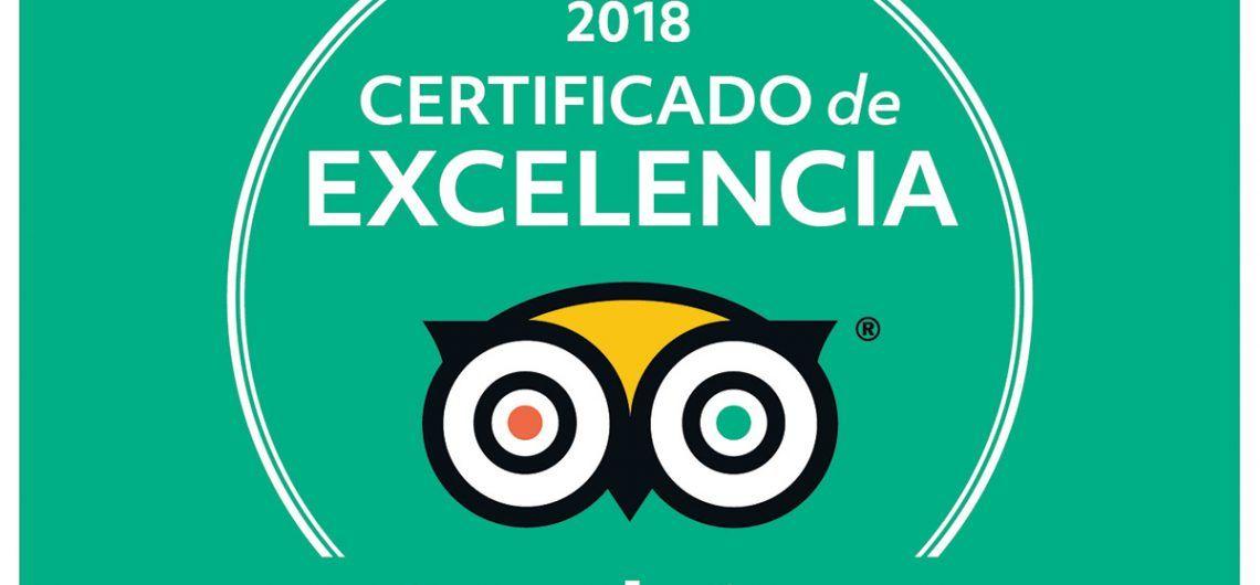 Certificado de Excelencia Tripadvisor 2018
