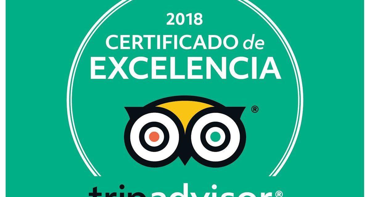 Rutas de Toledo, certificado a la Excelencia Tripadvisor 2018
