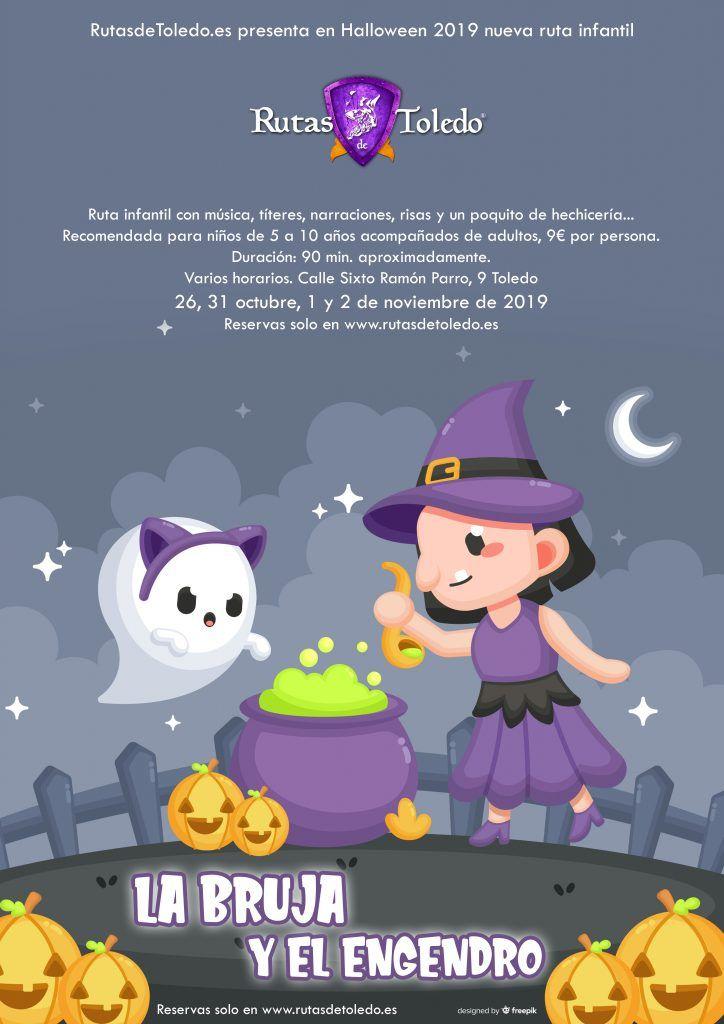 La Bruja y el Engendro, ruta especial infantil Halloween 2019
