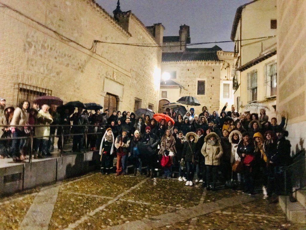 """Dos grupos de la ruta """"Toledo Siniestro"""" del pasado 10 de noviembre de 2018"""