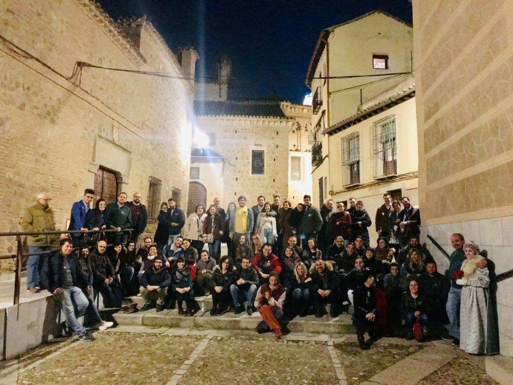 Dos grupos de la ruta nocturna Toledo Siniestro del sábado 9 de marzo de 2019