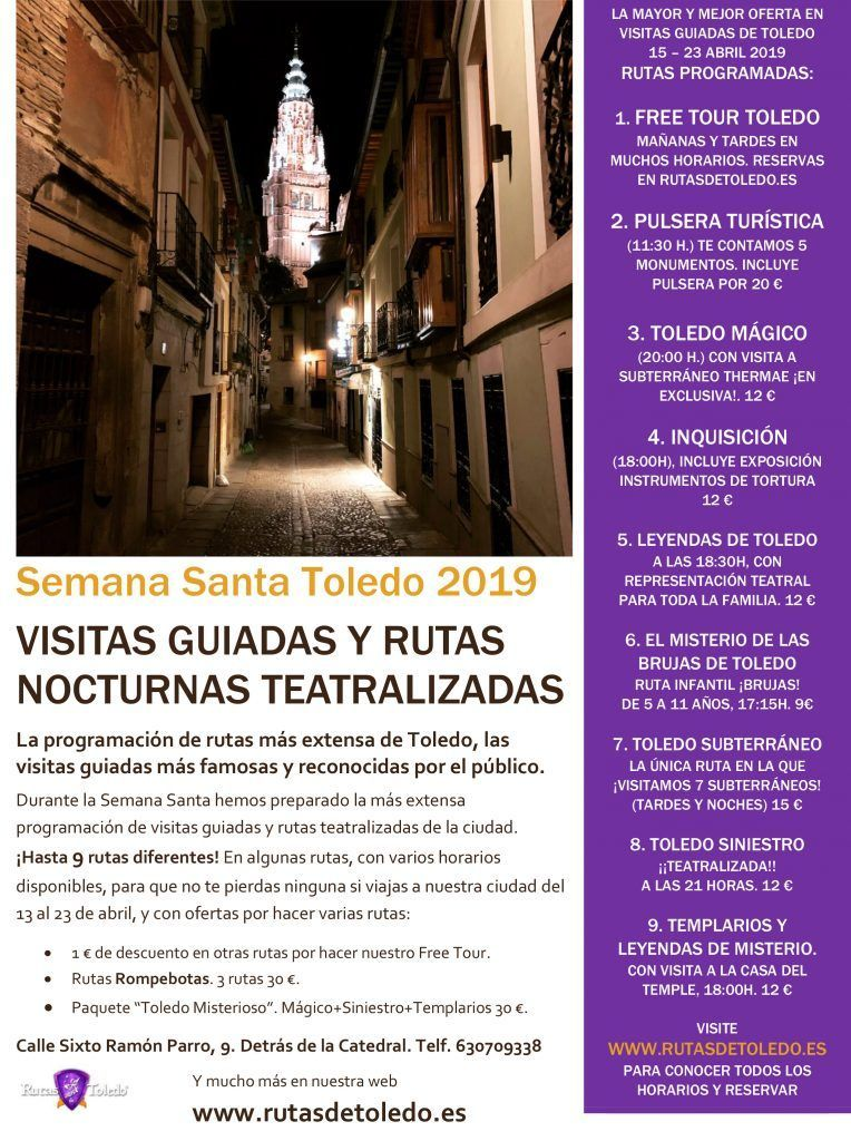 Visitas guiadas Semana Santa 2019 en Toledo