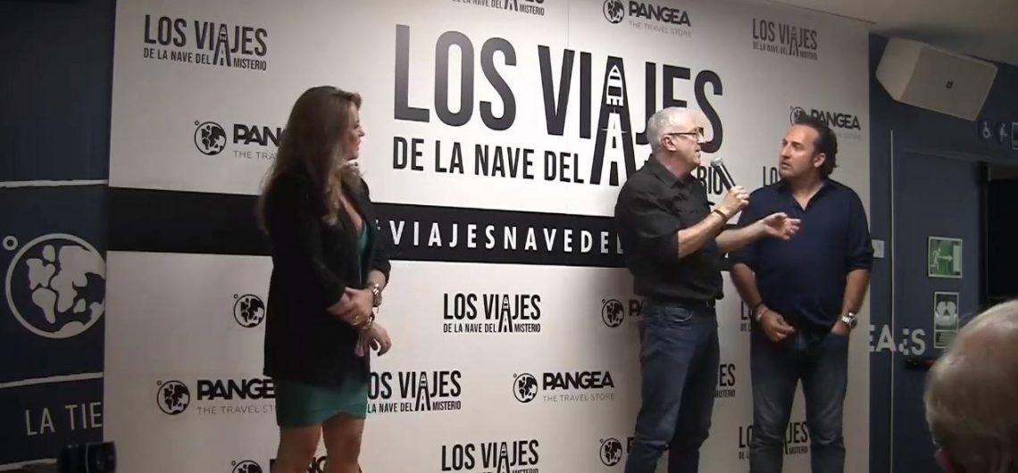 Iker Jiménez y Carmen Porter con Luis R. Bausá en Madrid presentando los Viajes de la Nave del Misterio