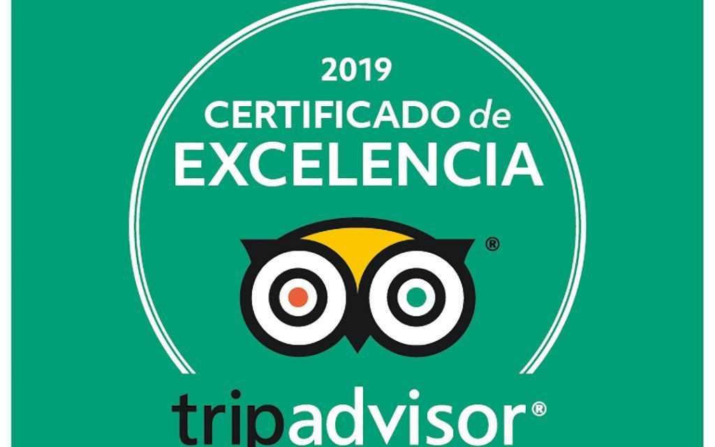Rutas de Toledo, certificado a la Excelencia Tripadvisor 2019
