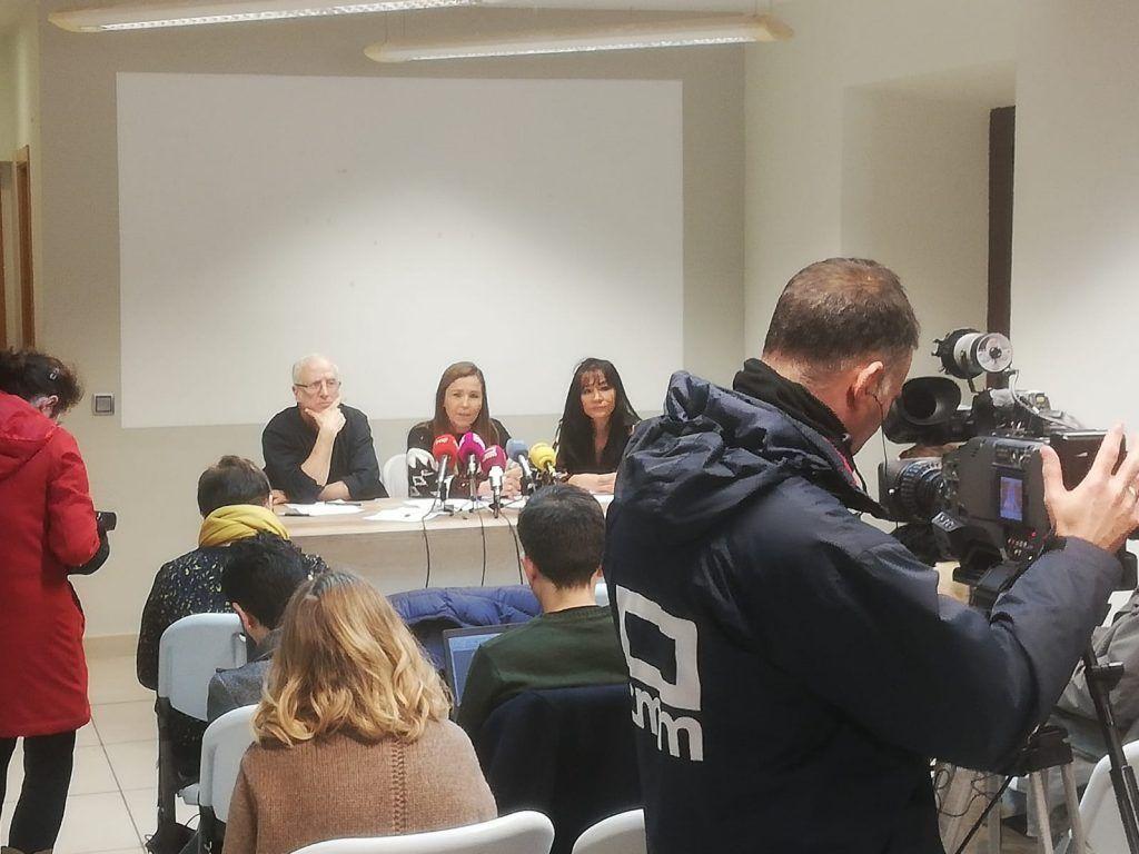 Rueda de prensa del 3 de marzo de 2020 de la Plataforma Abierta de Guías de Turismo de Castilla-La Mancha.