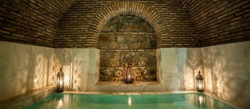 Una de las piscinas de Medina Mudéjar Baños Árabes