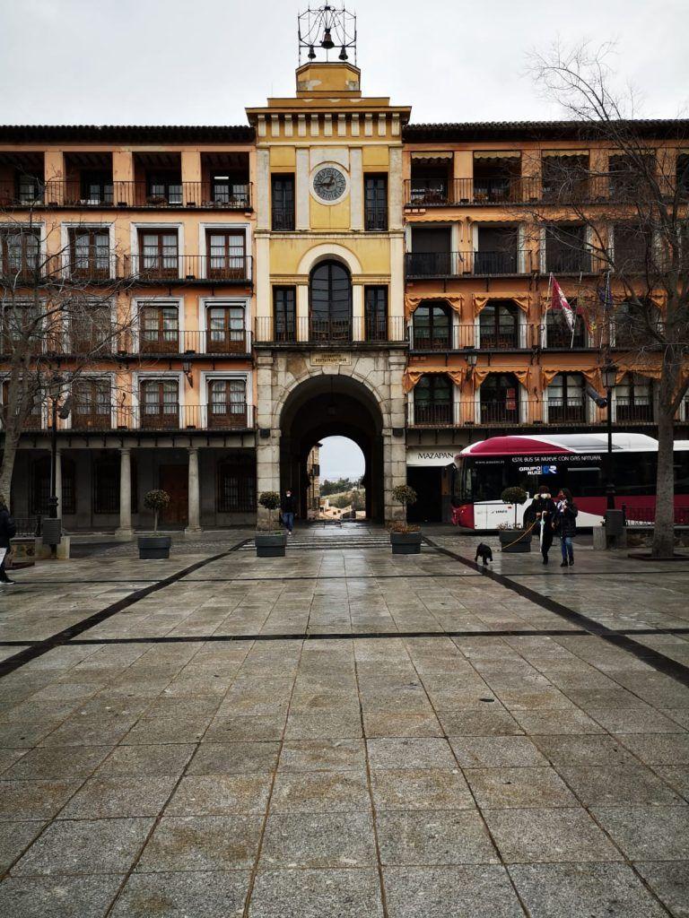 Toledo, 6 de febrero de 2021. Plaza de Zocodover solitaria