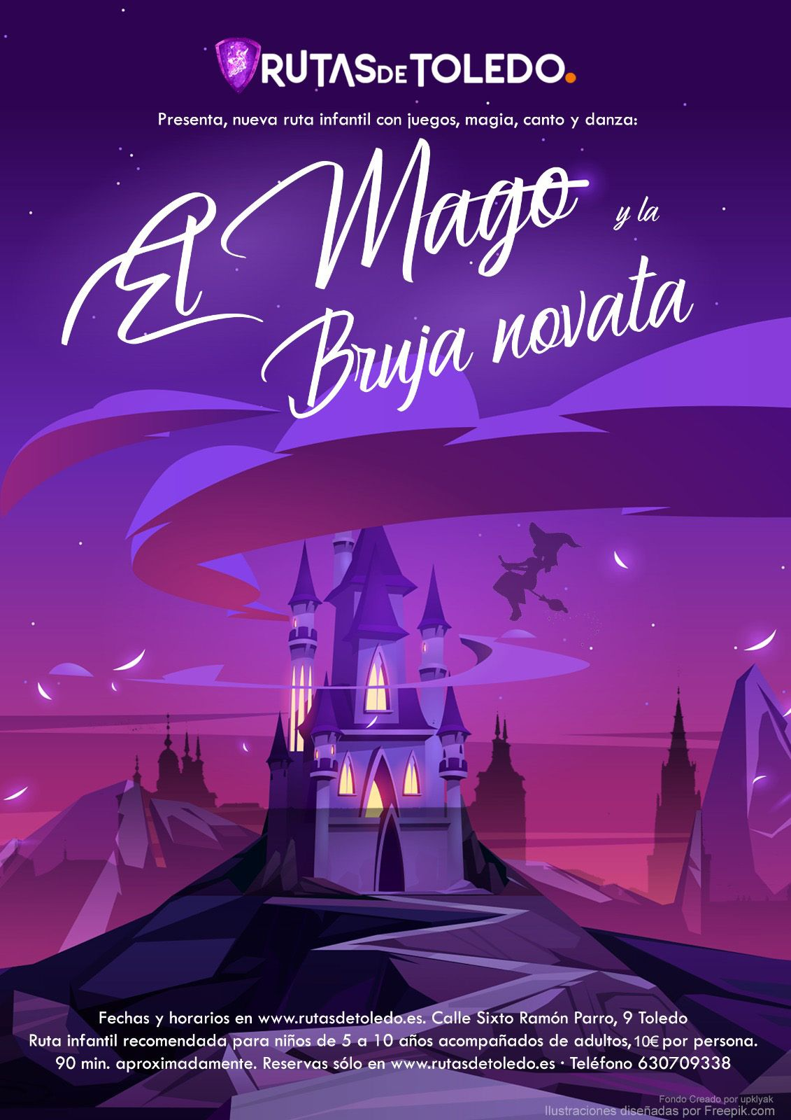 El Mago y la Bruja novata, ruta infantil en Toledo